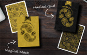 Paisley Magical Black Playing Cards Deck By Dutch Card House Company Brand New