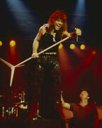 Jon Bon Jovi Iconic 1980's On Stage In Concert Holding Mike Stand 16x20 Canvas