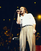 Phil Collins Iconic 1980's Pose Singing On Stage In Concert 16x20 Canvas Giclee
