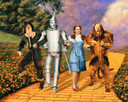 The Wizard Of Oz 16x20 Canvas Giclee Iconic Judy Garland Scarecrow Tin Man Lion