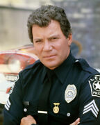 William Shatner In T.j. Hooker In Uniform Arms Folded 16x20 Canvas Giclee