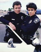 William Shatner And Adrian Zmed In T.j. Hooker In Police Uniform 16x20 Canvas