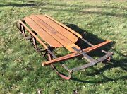 """Vintage Flexible Flyer Model 65h Airline Crusier Racing Snow Sled Home Decor 67"""""""