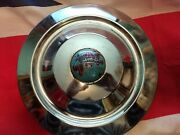 Vintage Used Chrome Triumph Hubcap With World Globe Center Cap