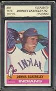 1976 Topps Dennis Eckersley 98 Hof Rc Cleveland Indians Rookie Accugrade 7 Nm Pq