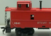 Vintage Lionel Ho Scale Red Caboose W Ladder Railings Smoke Stack Not Standard
