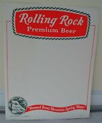 Rolling Rock Premium Beer Sign New Old Stock Latrobe Pa Mountain Springs Water