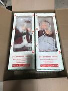 """Vintage 24"""" Animated Musical Mr. And Mrs. Santa Claus"""