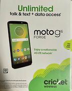 Cricket Moto G6 Forge 5.7 Prepaid Cell Phone 16gb 4g Lte Android 8 New Sealed
