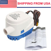 12v 1100gph Automatic Submersible Boat Bilge Water Pump And Float Switch Us Seller