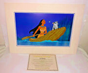 Disney Animation Cel Pocahontas Just Around The River Bend Rare Edition Art Cell