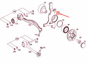 Mercedes-benz Glk X204 Front Right Steering Knuckle A2043323001 New Genuine