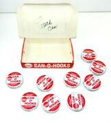 Vintage Frabill Can-o-hooks 4832 With Display Box 9 Tins Of Fishing Hooks