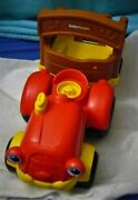 Little People Talking Musical Farm Tractor And Trailer Fisher Price Toy Used