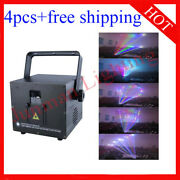 3w 3000mw Rgb Full Color Animation Laser Projector Ilda 4pcs Free Shipping