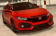 Fits 16-18 Honda Civic X 4dr Facelift Type-r Front Bumper+lip+rear Fender Flare