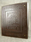 A4 / Us Letter Size Ring Binder - Hand-tooled Leather - Tree Of Life - Druid Oak