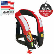 A++ Quality M-33 Manual Inflatable Life Jacket Lifevest Pfd Reflective Bouyancy