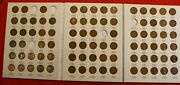 1909-1940 Lincoln Cent Harris Folder Book 84 Coins 5 Missing Nice Circulated Lw2