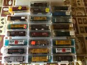 N Scale, Atlas 40 Ft Boxcars, Various Roads, Nos From Estate. Variation Listing1