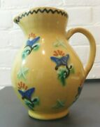 Vintage German Pottery Small Pitcher Anton Lang Signed