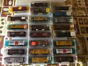 N Scale, Atlas 40 Ft Boxcars, Various Roads, Rapido Couplers. Variation Listing.