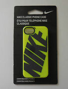 Nike Classic Phone Case Iphone 5 Soft Protection Neon Yellow W/black New