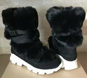 Ugg Waterproof Suede Fur Snow Short Boots Size Us 7 Womens