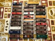 N Scale, Micro Trains Line/kadee, 50 Ft Boxcars, Various Roads, Variation. Nos