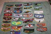 Order Of The Arrow Oa Boy Scouts Lot Of 30 Different Oa Flaps E