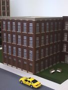 O Scale Paterson Silk Mill Building 4-story 12 Square 13-/12 Tall Lit