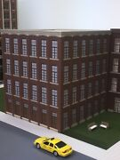 O Scale Paterson Silk Mill Building, 4-story, 12 Square, 13-/12 Tall, Lit