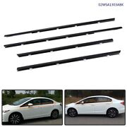 Fit For Honda Civic 2012-2015 Outer Window Moulding Trim Weather Strips Seal
