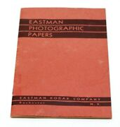 Antique 1939 Eastman Photographic Papers Booklet Processing Of Papers And Prices