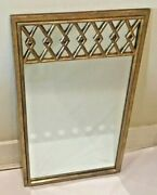 Vintage Regency Style 1950's Italian Carved Wood Gold Gilt Wall Mirror 33