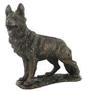 German Shepherd Dog Cold Cast Bronze Sculpture Dogs Brand New And Boxed