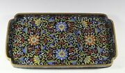 Middle 19th Century Or Earlier Qing Dynast Cloisonne Square Plate Charger 671f1