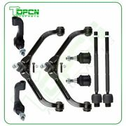 8 Pieces Control Arms Ball Joints Tie Rods Kit Fits 2002-2004 2005 Jeep Liberty