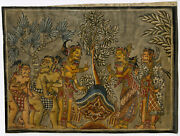 Rare Antique Drawing-kamasan Painting-bali-indonesia-anonymous-c.1920