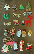 20 Vtg/new Christmas Tree Brooches/necklace/earrings Rhinestone