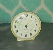 Vintage Retro • Westclox • Wind Up Alarm Clock Made In Usa Old Nice Collectible