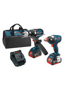 Clpk223-181 Bosch 18v 2-tool Combo Kit 1/4 And1/2 In. Two-in-one Bit/socket