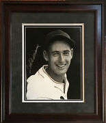 Ted Williams Red Sox Signed 11x14 Photo Framed Suede Mint Autograph Hof Jsa Loa