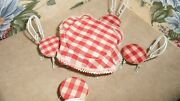 Dollhouse Antique Furniture Patio Set Ice Cream Parlor Table Chairs Table Cloth