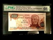 Argentina 1000 Pesos 1976 World Paper Money Unc Currency - Pmg Certified