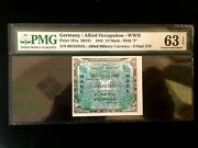 Allied Military Currency - Wwii 1944 1/2 Mark - 3 Sequential Bills - Pmg Cert