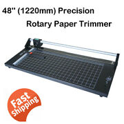 48'' 1220mm Manual Precision Rotary Paper Trimmer For Photo Paper Cutter Usa