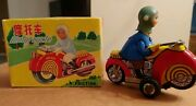 Vintage Tin Toy Motorcycle Moto Friction China Mf 115 60and039s With Original Box