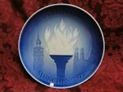 1972 Bing Grondahl Olympic Plate Vintage Munich Blue White Olympiade...