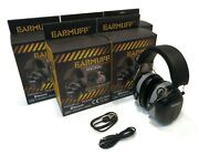 Pack Of 5 Earmuff Black Headphones 31 Decibels With Bluetooth And Charging Cord